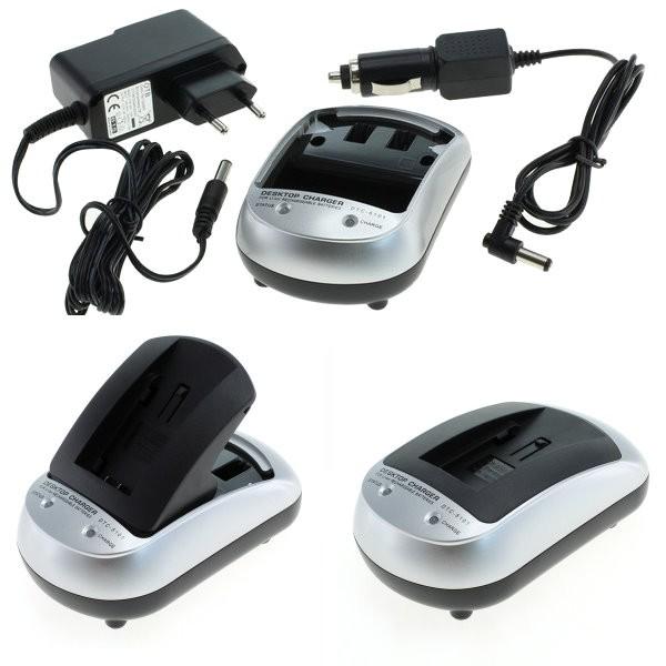 Carregador p. Olympus Pen E-PL5, Carregador para bateria com 230V AC adaptador, carregador + carregador de carro para o carro, caminhão 12V e 24V.