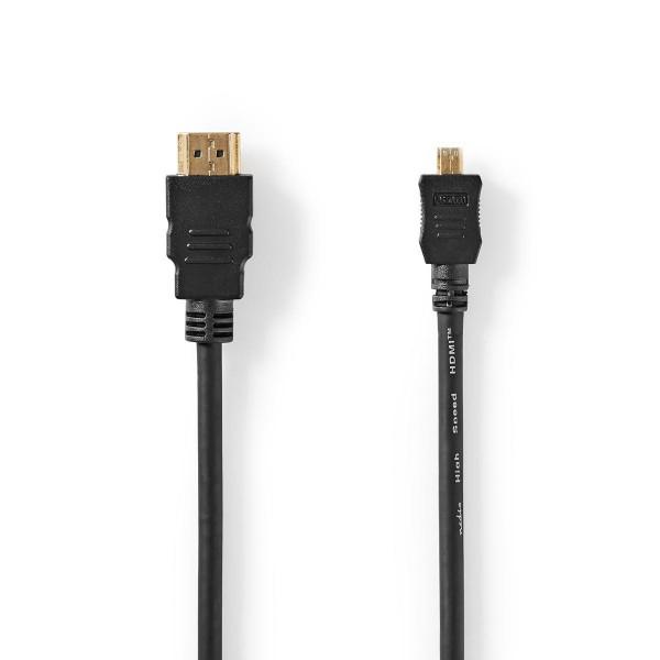 Cabo HDMI 2m preto p. Canon PowerShot G1 X Mark III